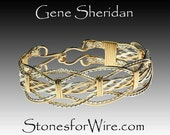 Sterling Silver and 14k Gold Fill Wire Wrapped Bracelet