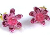 Flower Earrings - Pastel Pink Origami