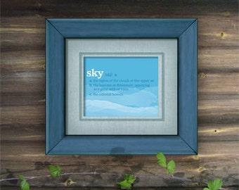 "Sky Definition Poster - Printable PDF - 8"" x 10"""