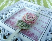 Tiny Vintage Inspired Rose Trio For Infant. Soft Ivory Headband. Save Up To 30% Plus Free Shipping