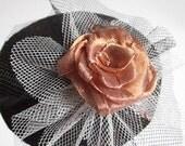 Copper Rose Fascinator Clip On