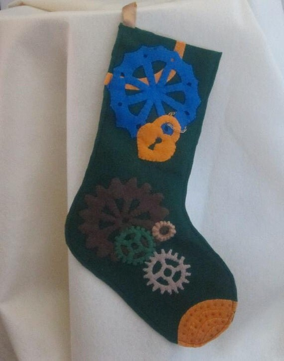Steampunk Christmas Stocking