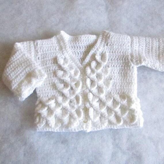 Baby Sweater Pattern Crocodile Stitch