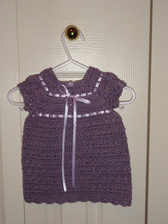 Beautiful Gracie Dress Crochet Pattern Size 0 to 3 months
