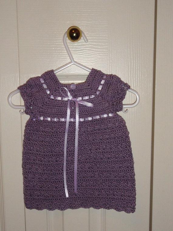 Beautiful Gracie Dress Crochet Pattern Size 0 to 3 months