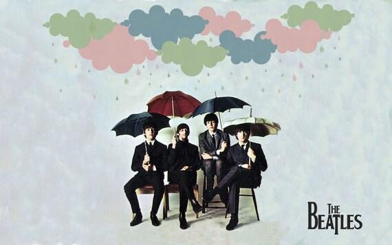 Beatles Umbrella Print