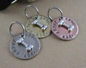 Silver Bone Dog Tag - Copper, Silver Nickel, Brass