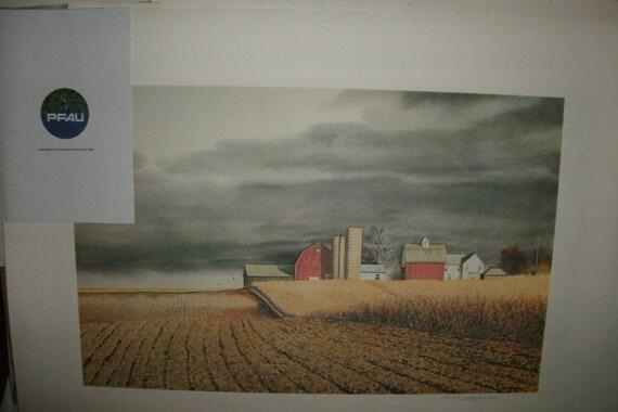 Reserved for Joe.....Vintage art work from Sam Hageman for PFAU Company