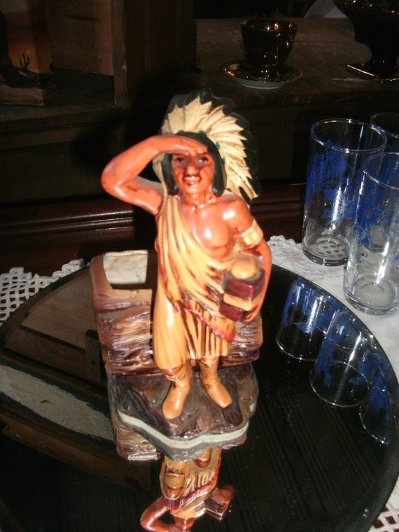Vintage Native American Chief Planter/pencil holder