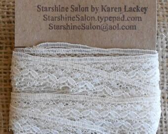 Vintage Ivory Lace 6 yds