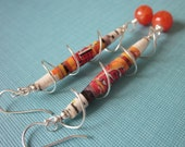Recycled Paper Earrings - Wrapping Around the Circus