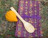 2 Eggplant Purple Italian Dish Towels, Tea Towel Set