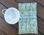 4 Garden Dish Towels, Tea Towels, Cotton Kitchen Towels, Summer BBQ by Wild Crow Farm