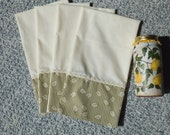 4 Growing up Green Dish Towels, Kitchen Towels, Tea Towels, Wild Crow Farm's Farmhouse Kitchen, Cottage Chic