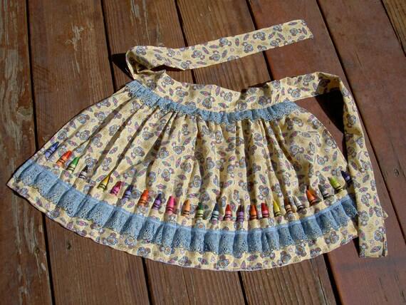 Crayon Apron, Girl Toy, Girl Birthday