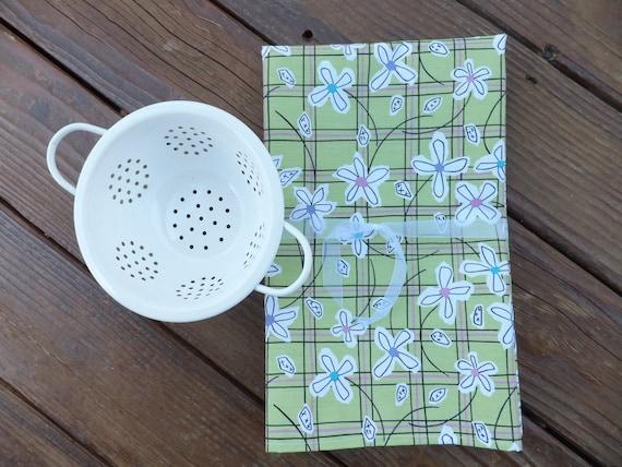 4 Garden Dish Towels, Tea Towels, Cotton Kitchen Towels, Summer BBQ by Wild Crow Farm