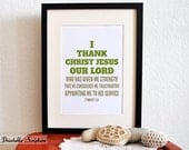 Appointment. 1 Timothy 1:12. 8x10.  DIY. Printable Christian Poster. PDF. Bible Verse.