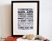 Romans 8:38-39. Neither-Nor. 8x10. DIY Printable Christian Poster. Bible Verse.