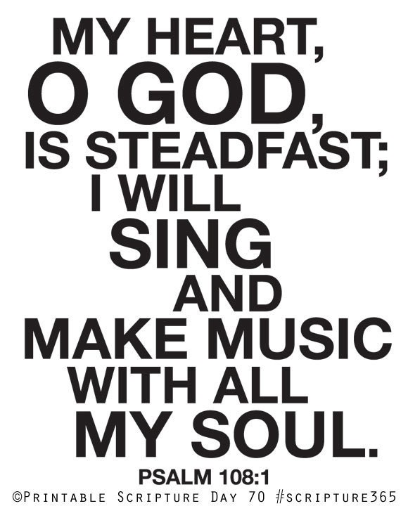 Sing And Make Music With All My Soul Psalm 108 1 8x10in Diy