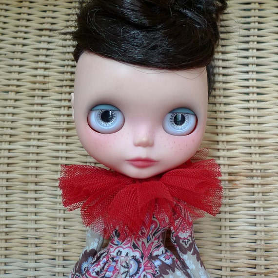 """SALE % Gorgeous Pink and Green Dress Collar and Petticoat Set for 12"""" Blythe, Pullip"""