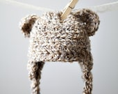 Little Bear Hat with Earflaps