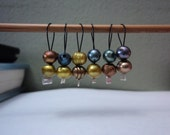 Stitchmarkers Knitting Snag-Free, Fresh Water Pearls Earth Tones