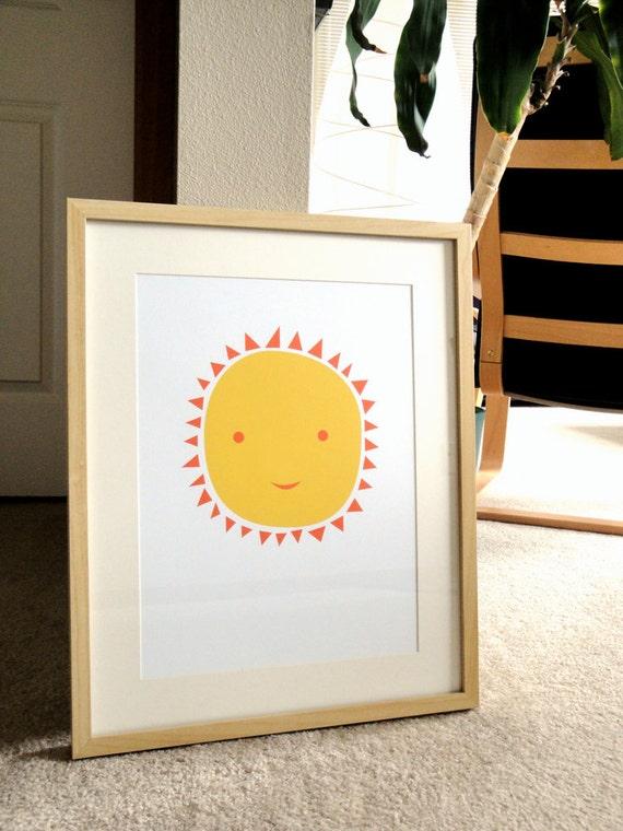 Ms. Sun - a modern design print 13x19