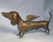 """Dog Sculpture Dachshund """"Musings on the German Airforce"""" by Benbrook"""