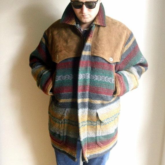 Men S Woolrich Blanket Coat Southwestern By Jacknboots