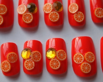 "Japanese Style 3D Nails ""Lots of PULP"" SIZE B"