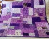 Lap Quilt Scrappy Purple Passion - SALE SALE SALE