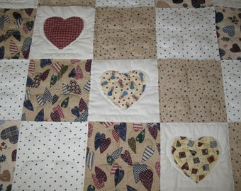 Lap Quilt / Wall Hanging Americana  - SALE Price