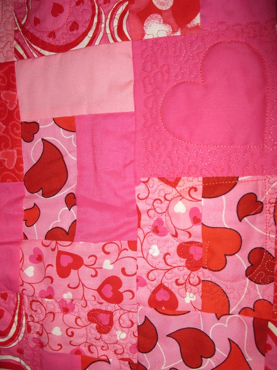 Lap Quilt Hearts and Valentines SALE SALE