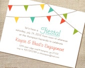 Fiesta Engagement Party Bridal or Couples Shower Invitation 5x7 (printable file)