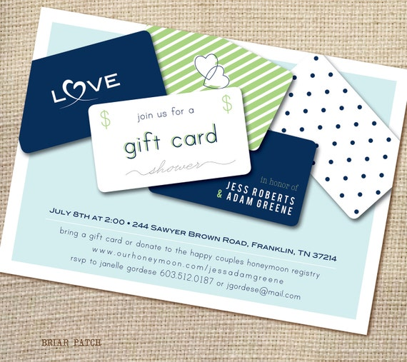 Wedding Registry Ideas For Couples Living Together: Items Similar To Bridal Or Couples Shower Invitation