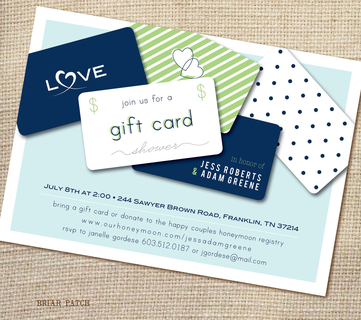 Delight & Decorum: Bridal Shower: Gift Card Q&A