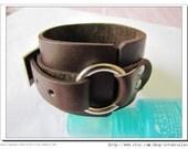 Adjustable Leather  Bracelet /Couple bracelets  Brown Real Leather Cuff Bracelet 516S