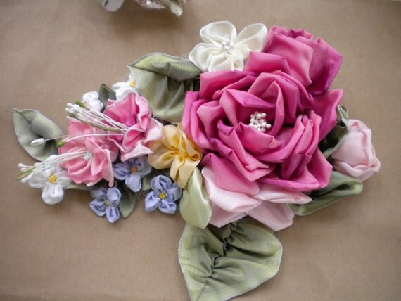 Large ribbon flower arrangement