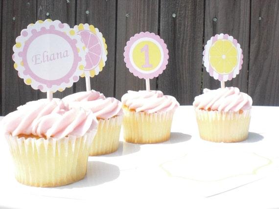 Printable Pink Lemonade Party Circles