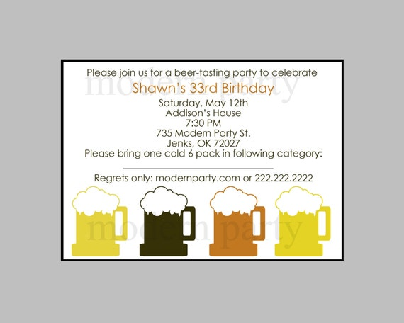 Free Printable Beer Tasting Party Invitation - Use this Beer Tasting Party invitation to invite people to become a Beer Tasting Party. The cover reads,