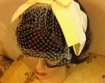 Vintage 40s 50's Union Made Womens Sunday Hat