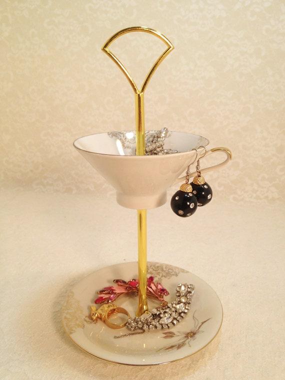 Tidbit Tray Tea Cup Elegant Evelyn