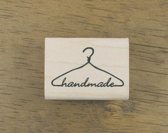 SP05,Handmade with clothing hanger Stamp - 40x30mm