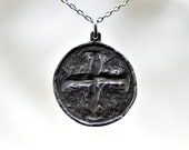 Ancient Hope Coin - Cross Pendant in sterling silver