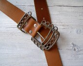 Reserve for Ann M.....................Unisex Leather Belt, Vintage 80s brown leather belt Listed By MeshuMaSH on Etsy