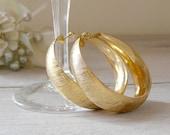 Vintage Hoops Earrings, Oriental golden hoops earrings