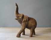 Reserve for Katie ..........................Vintage Wood Elephant, African brown Elephant