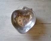 Strawberry Pewter Bowl, Vintage Candy Bowl