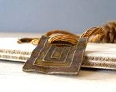 Boho Pendant Necklace, Vintage Abstract pendant necklace
