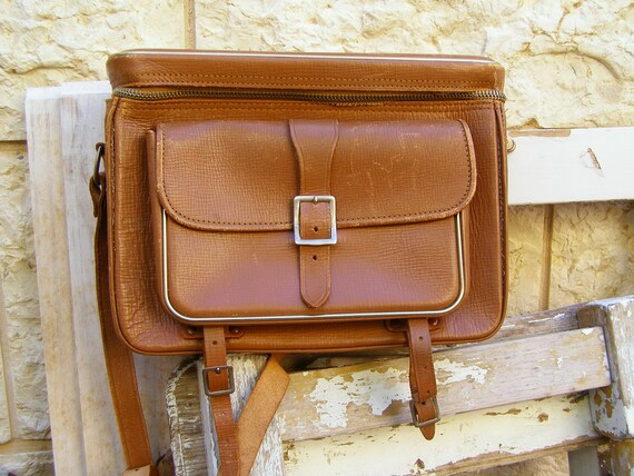 Field Leather Bag, Vintage brown leather bag for man